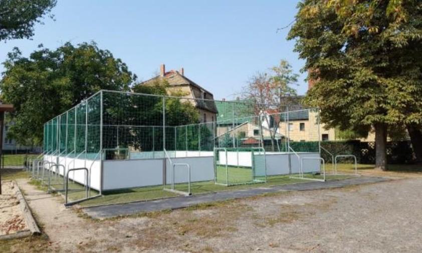 Socceranlage nach der Sanierung